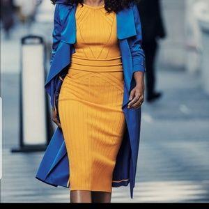 NY&Company Gabrielle Union Blue Trenchcoat
